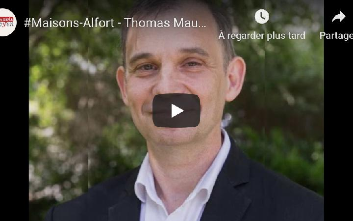 Le site Renouveau Maisons-Alfort diffuse l'interview de Thomas Maubert